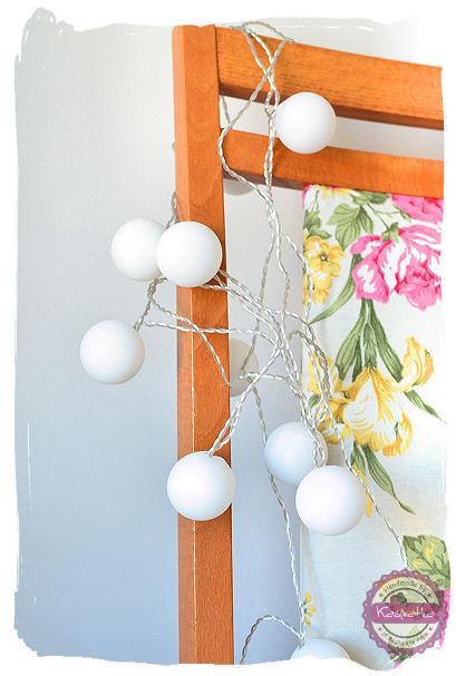 lampki z pilek ping pongowych