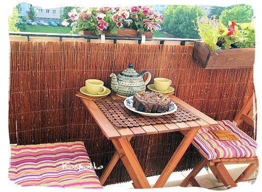 herbatka na balkonie