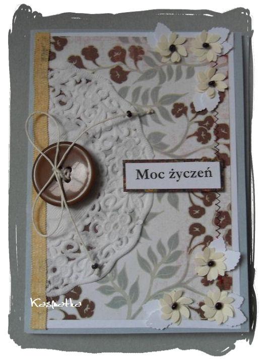 kartka z guzikiem