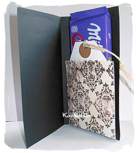 kartka z czekoladą