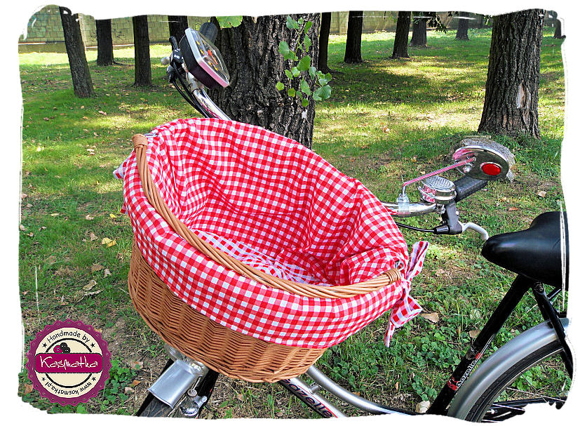 Koszyk rowerowy zbliżenie