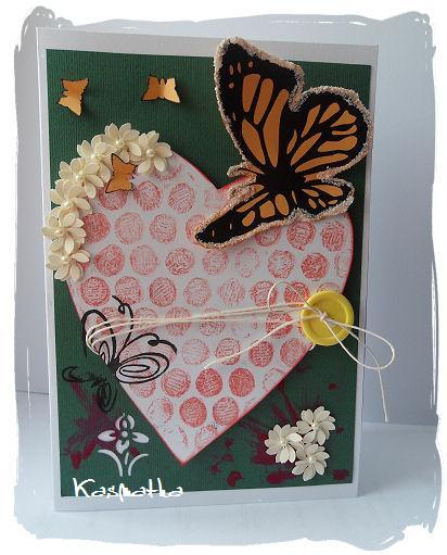 kartka z motylem